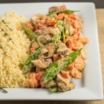 asian zing stir fry with parsnip rice