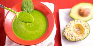 avocado sunflower bliss and zucchini spinach soup