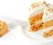 Carrot Cake with Maple Cashew Frosting
