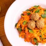 carrot walnut crunch salad