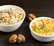 Cozy Cole Slaw and Red Bell Pepper Miso Soup