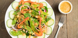 crunchy asian peanut salad