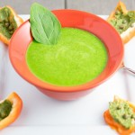 pesto bell peppers and zucchini spinch-soup