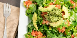 pumpkin seed pesto salad