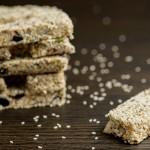 raw sesame seed bars
