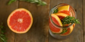 rosemary grapefruit infused water