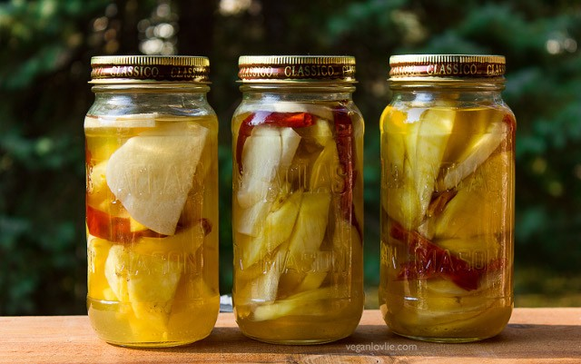 Mauritian-style Jicama, Pineapple and Mango Pickles