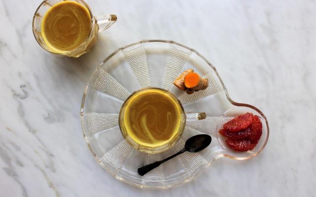 Blood Orange and Cherry Turmeric Milk