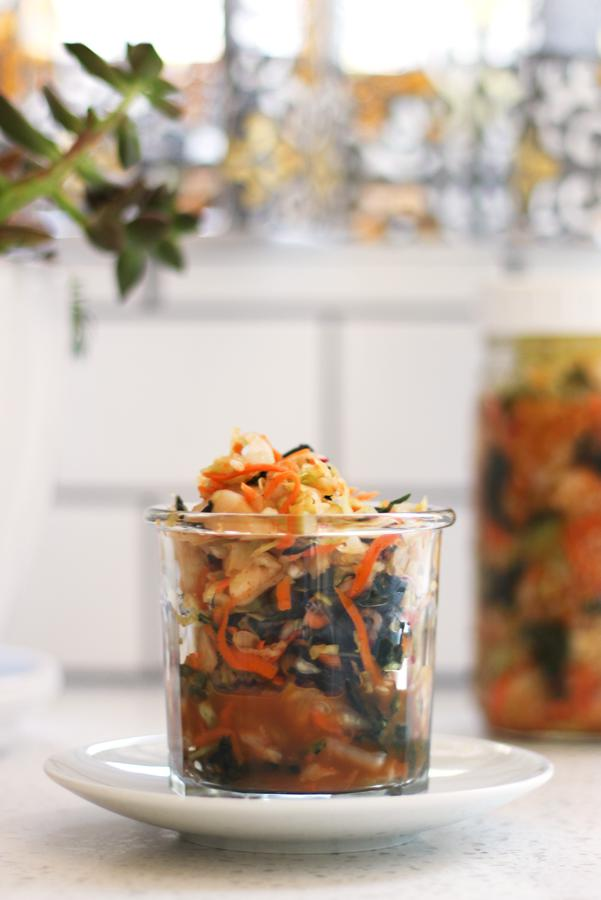 Carrots and Kale Kimchi