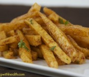 Jicama Garlic Chili Cheese Fries