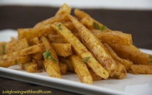 Jicama Garlic Chili Cheese Fries FTR