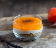 Hazelnut Crunch Persimmon Parfait
