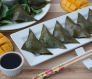 Spinach and Mushroom Mango Dumplings