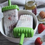 Coconut Strawberry Popsicles
