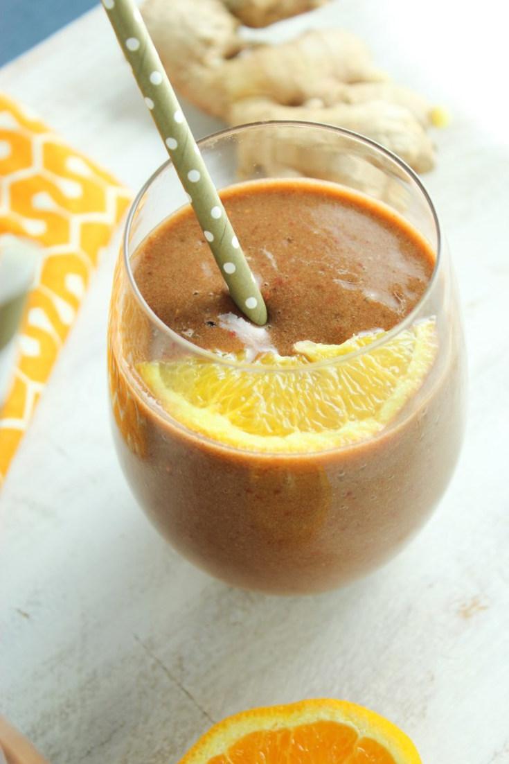 Spinach Berry Orange Smoothie