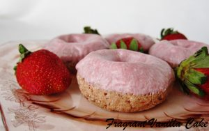 Strawberry Raw Vegan Donuts