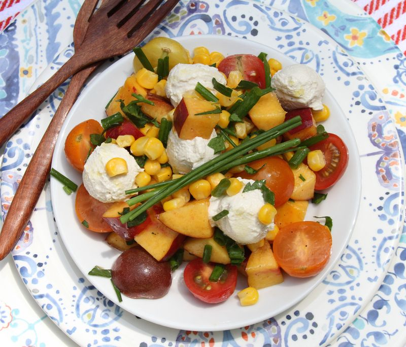 Summer Salad With Vegan Mozzeralla Balls