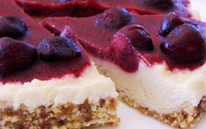 cherry lemon cheesecake pie raw food recipe FTR