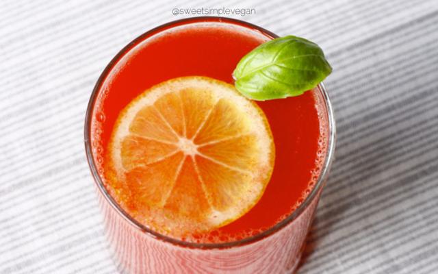 Basil Watermelon Cooler