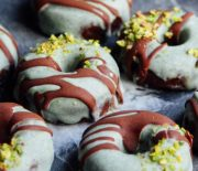 Coconut Mint Chocolate Donuts