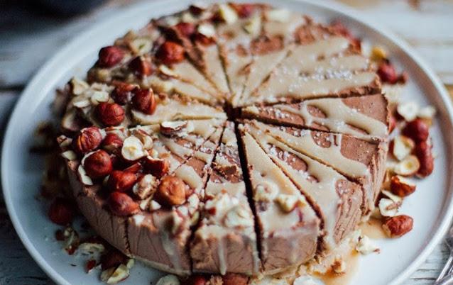 Hazelnut Chocolate Coconut Ganache Tart