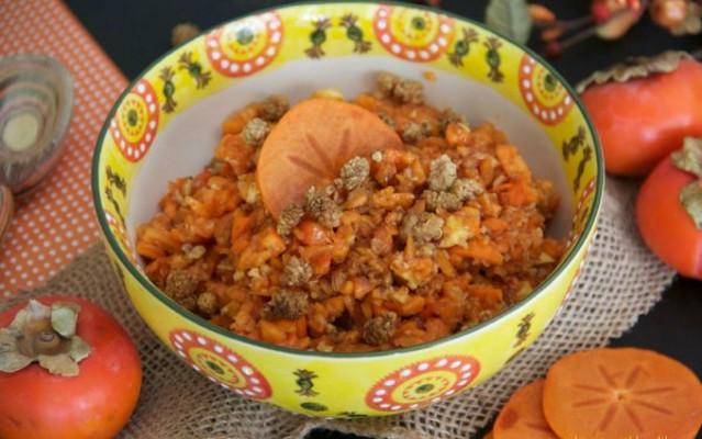 Persimmon Pumpkin Pie Breakfast Bowl