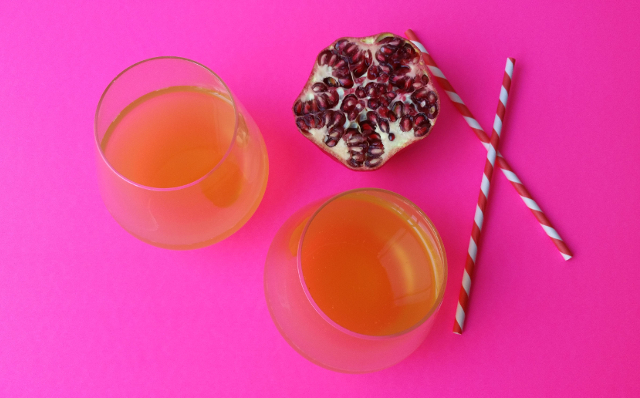 Fermented Pineapple Pomegranate Water Kefir