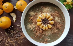 orange carob smoothie bowl FTR
