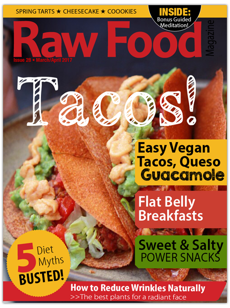 raw food magazine with easy raw vegan recipes