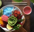 Raw Vegan Rainbow Miso Beet Bowl