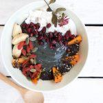 Raw Vegan Charcoal Smoothie Bowl