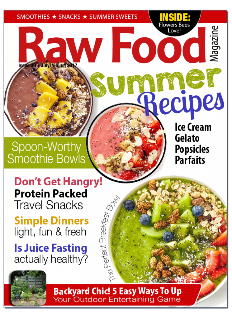 raw food recipes summer 2017 raw food magazine cover