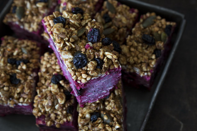 Beetroot Date Bars