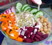 Beet Buddha Bowl with Tahini Lemon Dressing
