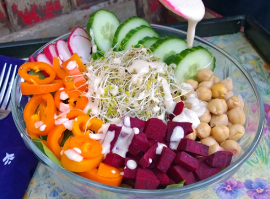 Beet Buddha Bowl with Tahini Lemon Dressing