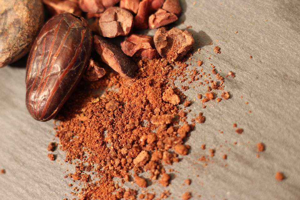 unprocessed raw cacao powder