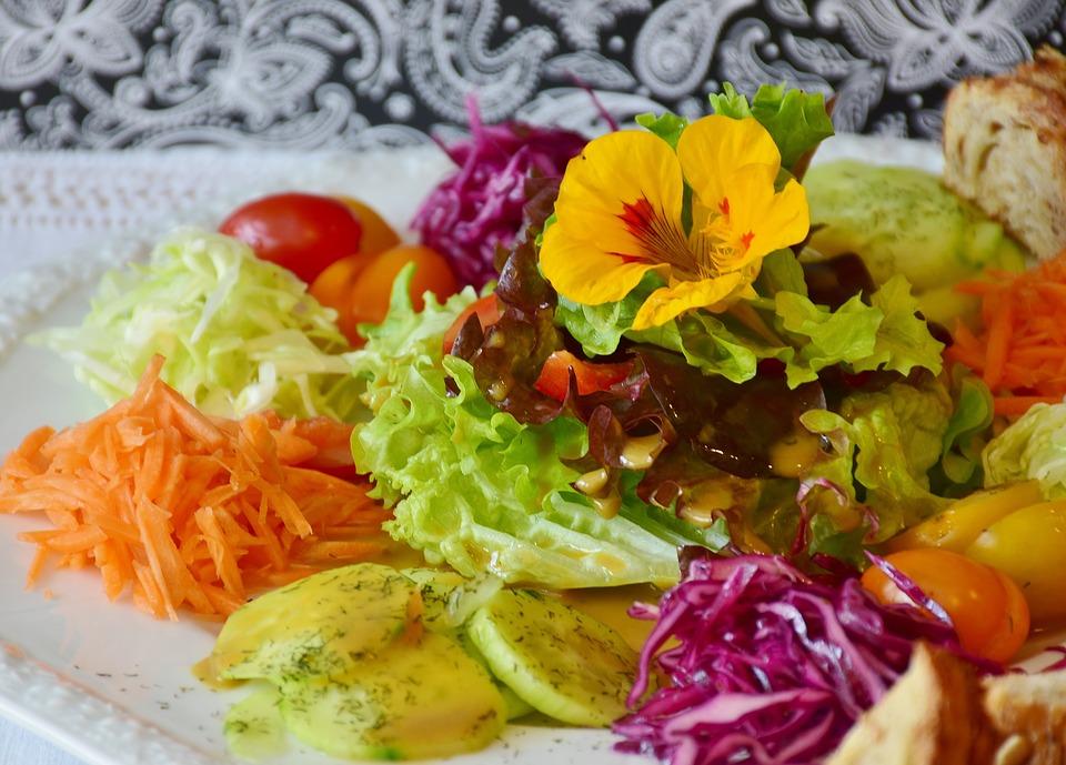 a nutritious fresh vegetable salad on a plate