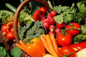 fresh vegetables packed in a basket