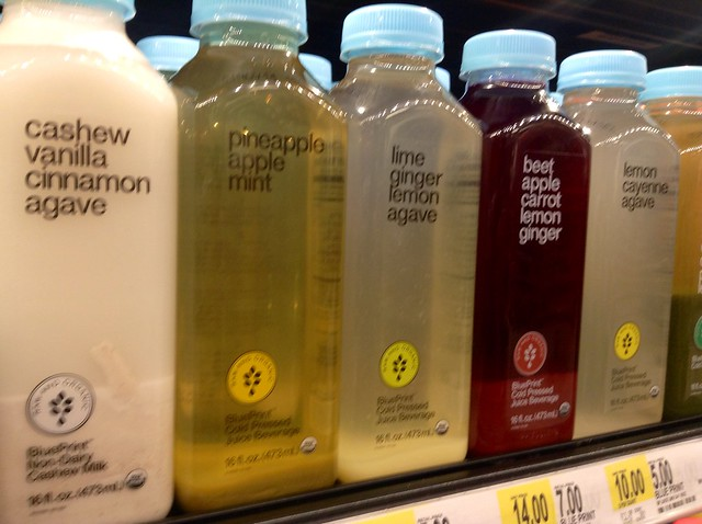 cold pressed juices in a bottle