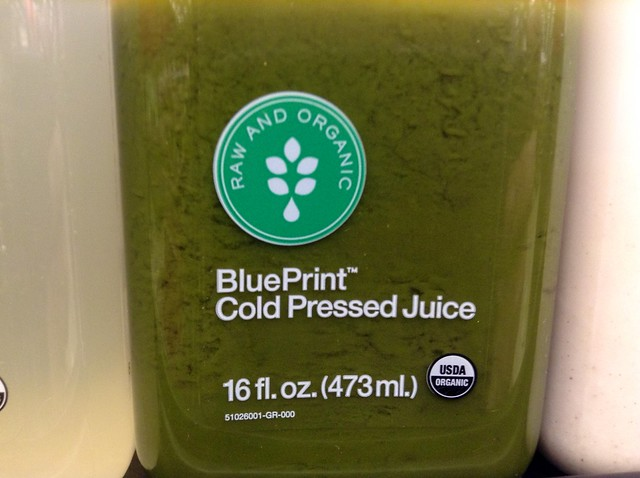 green juice in a bottle
